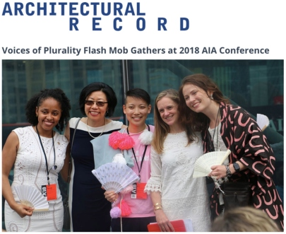 Architectural Record Voices of Plurality Flash Mob